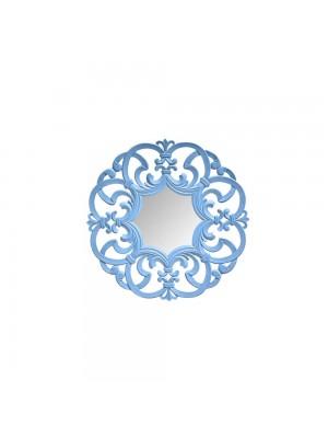 Espelho Arabesco Médio Azul Lápis