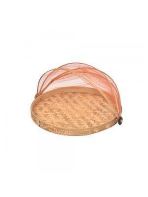 Cesto de Pão Flat Redondo Natural Laranja - conj. 3 peças