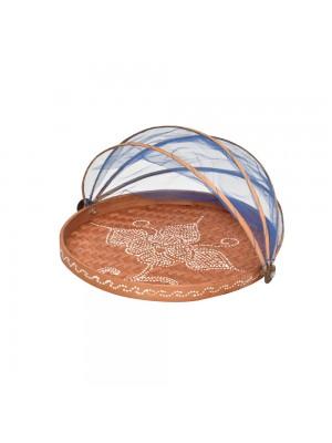 Cesto de Pão Flat Redondo Toast Azul - conj. 3 peças