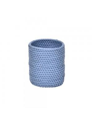 Vaso de Ratan Mini Azul Lápis
