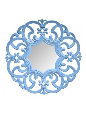 Espelho Arabesco Grande Azul Lápis