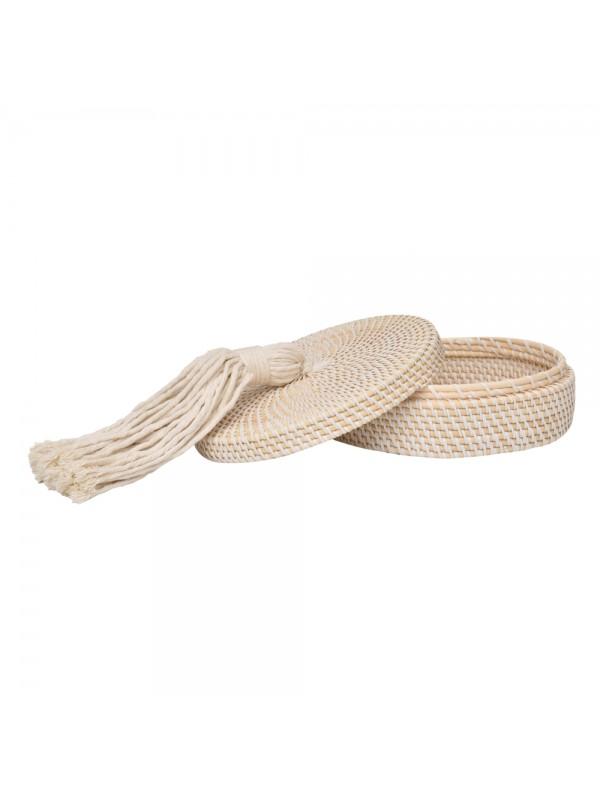 Caixa Ratan Flat Tassel Off White