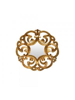 Espelho Arabesco Médio Dourado