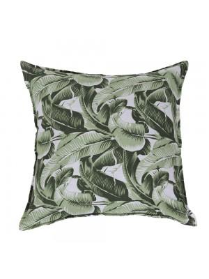 Capa de Almofada Viscose Floral Verde