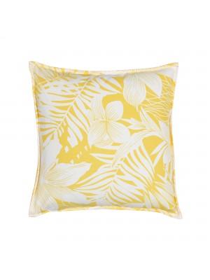 Capa de Almofada Viscose Floral Amarela