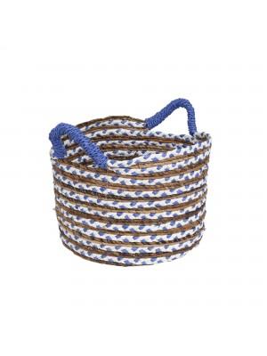 Cesto Tresse Azul - conj. 03 peças